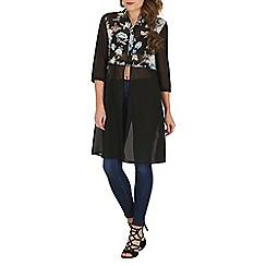 Mela - Black bright contrast shirt dress