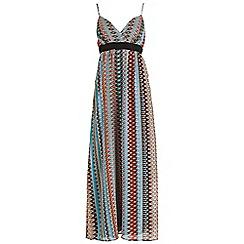 Mela - Black aztec maxi dress