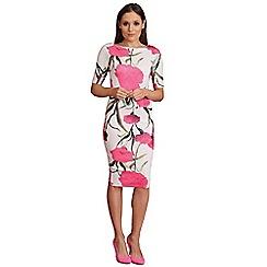 AX Paris - Cream bold flower midi dress
