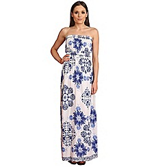 AX Paris - Blue flower printed maxi dress