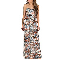 Lili London - Multicoloured floral bandeau maxi dress