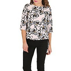 Poppy Lux - White havanna palm print top