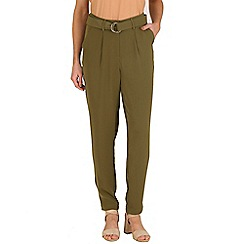 Poppy Lux - Green peyton d-ring trousers