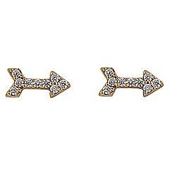Buckley London - Gold metropolitan arrow earrings