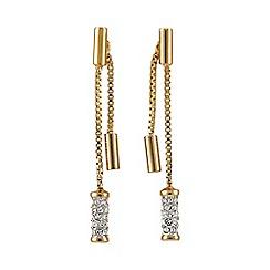 Buckley London - Gold primrose hill two part earrings