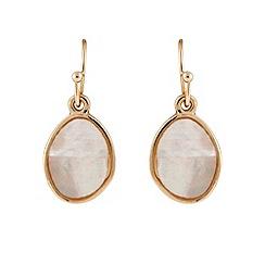 Buckley London - Gold chelsea organic drop earrings