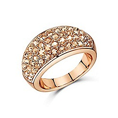 Buckley London - Gold metallic pave chunky dome ring