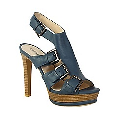 Betsy - Navy gladiator style deep toe sandals