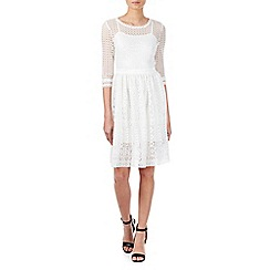 Zibi London - White mix lace midi dress