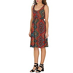 Izabel London - Multicoloured tribal printed midi dress
