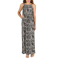 Izabel London - Navy multi pattern maxi dress