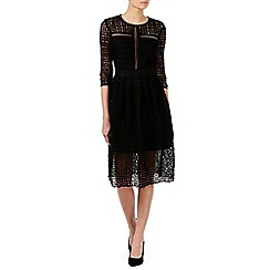Zibi London - Black mix panel lace dress