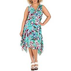 Samya - Blue floral print swing dress