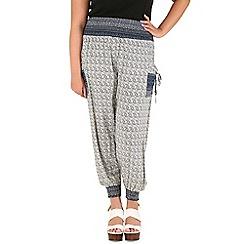 Samya - Blue abstract print harem trousers