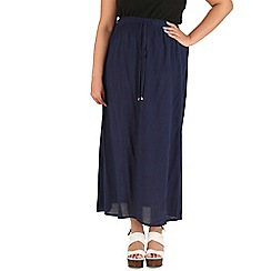 Samya - Navy tie up skirt