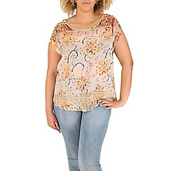 Samya - Yellow floral print top