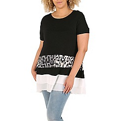 Samya - Black animal print top