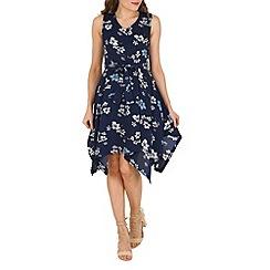 Mela - Navy floral dress