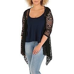 Samya - Black overall lace cardigan