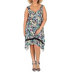 Samya - Multicoloured sleeveless floral print dress