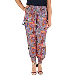 Samya - Orange tribal printed trousers