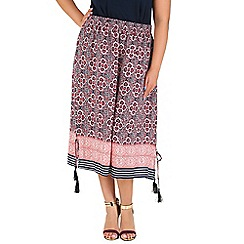 Samya - Pink tribal printed skirt