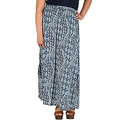 Samya - Blue circle wave print maxi skirt