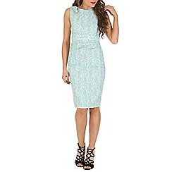 Jolie Moi - Green lace bonded dress