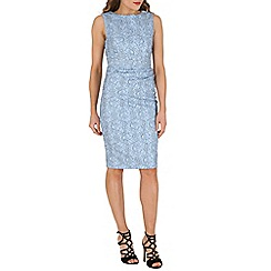 Jolie Moi - Blue lace bonded dress