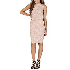 Jolie Moi - Pink lace bonded dress
