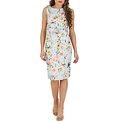 Jolie Moi - Turquoise ruched floral shift dress