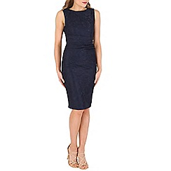 Jolie Moi - Navy lace bonded dress