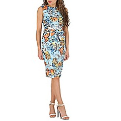 Jolie Moi - Blue floral print dress