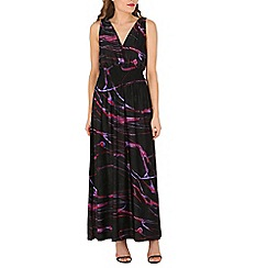 Indulgence - Black abstract maxi dress