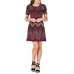 Indulgence - Multicoloured geo skater dress