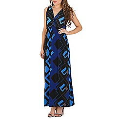 Indulgence - Navy geo printed maxi dress