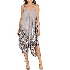 Izabel London - Natural diamond printed scarf hem jumpsuit