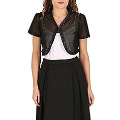 Izabel London - Black mesh sequins cardigan