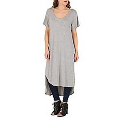 Oeuvre - Grey side slit t-shirt dress