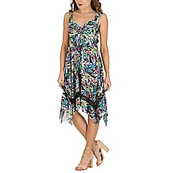 Izabel London - Green tropical floral print dress