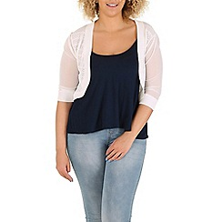 Samya - White shrug cardigan