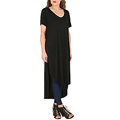 Oeuvre - Black side slit t-shirt dress