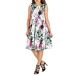 Izabel London - Multicoloured digital floral print dress
