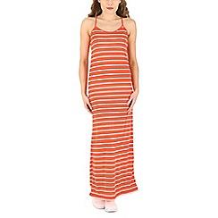 Voulez Vous - Pink striped cami strap maxi dress