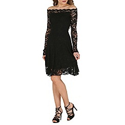 Lili London - Black coco bardo lace dress