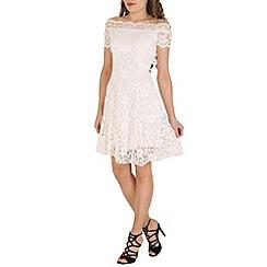 Lili London - Cream fancy. scallop bardo lace dress