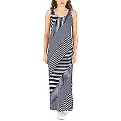Voulez Vous - Navy striped sleeveless maxi dress