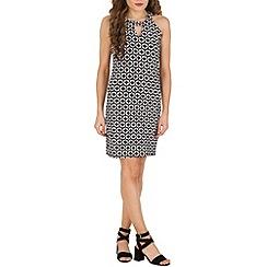 Izabel London - Black daisy patterned dress