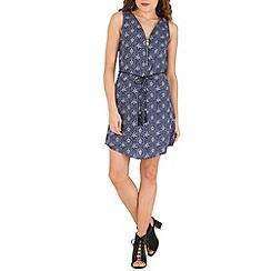 Izabel London - Blue printed shift dress