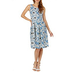 Sugarhill Boutique - Blue stacey daisy print midi dress